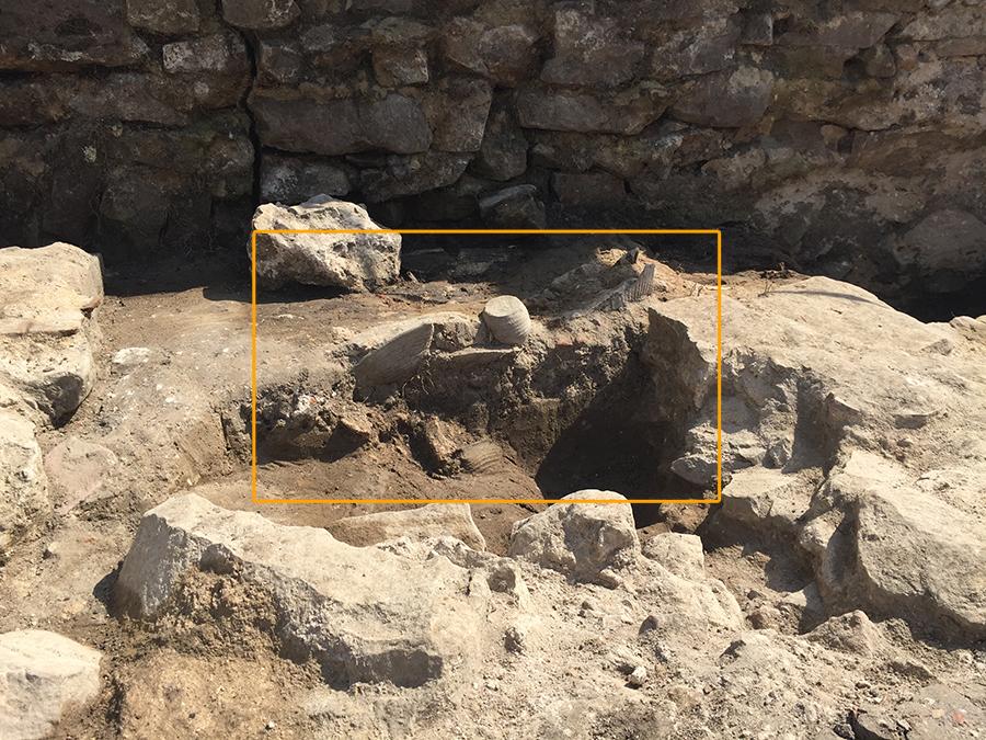 Keramik-Fund auf der Wersau