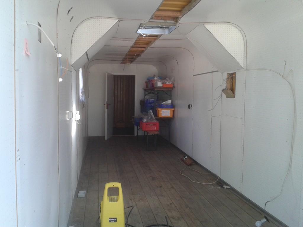 Innenansicht des Containers
