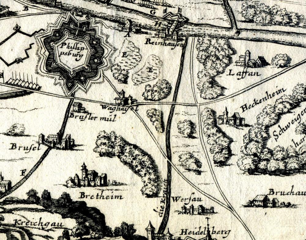 Auszug aus der Karte von 1676