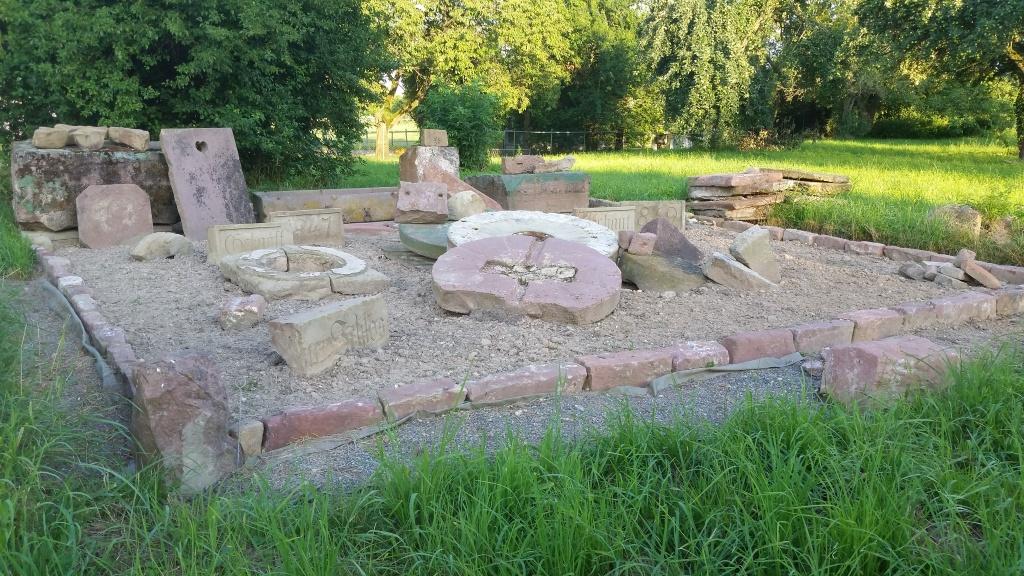 Eine der Stationen des Archäologieparks