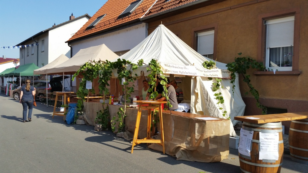 Einer der schönsten Stände auf dem Reilinger Straßenfest